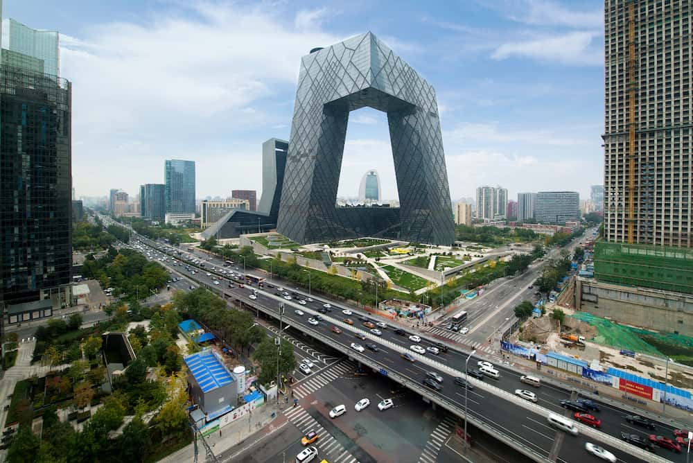 Beijing ,China - : China Beijing City. China Central Television (CCTV) building is very spectacular in Beijing, China.