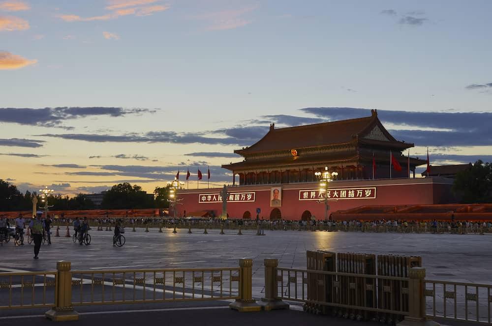 Beijing, China - Forbidden city, Tiananmen square