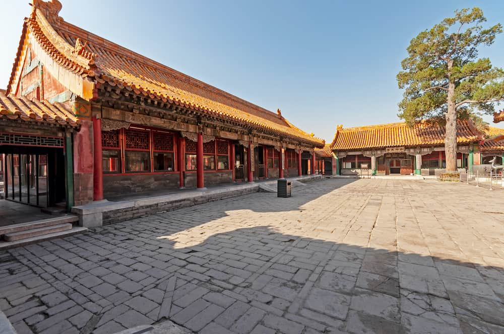 Beijing, China - Inside of the Forbidden city, Chinese imperial palace from the Ming dynasty to Qing dynasty. It is China's most popular singular site tourist attraction.
