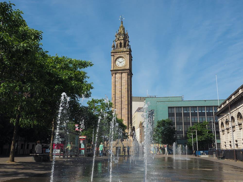 BELFAST, UK - Albert Memorial Clock (aka Albert Clock) tower