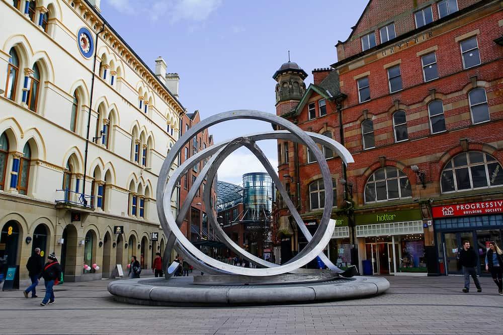 Belfast United Kingdom - Sculpture Spirits of Belfast by Dan George in city centre
