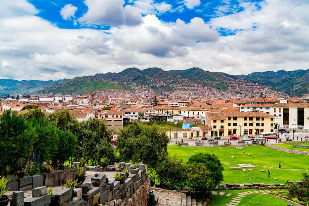 CUSCO, PERU - View of the city of Cusco from the Convent Santo Domingo in Peru