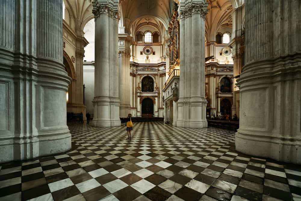 GRANADA, SPAIN - Granada Cathedral interior view in Granada, Spain.