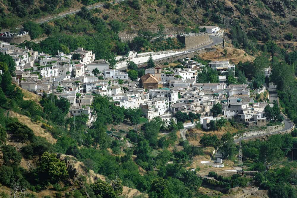 Las alpujarras, white Andalusian village of Pampaneira in Spain