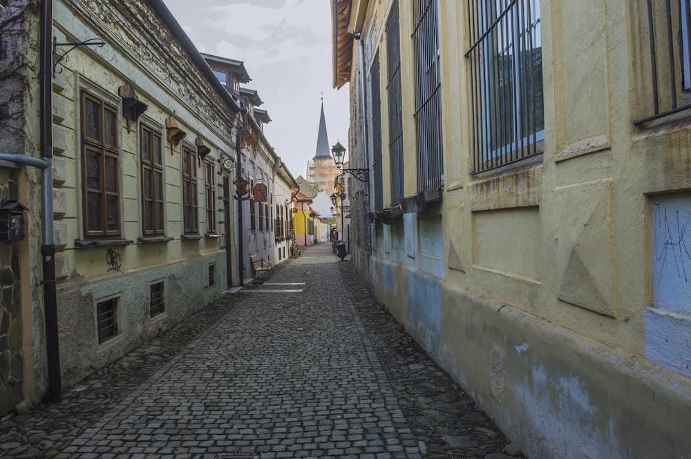 KOSICE, SLOVAKIA - back street in old town of Kosice, Slovakia