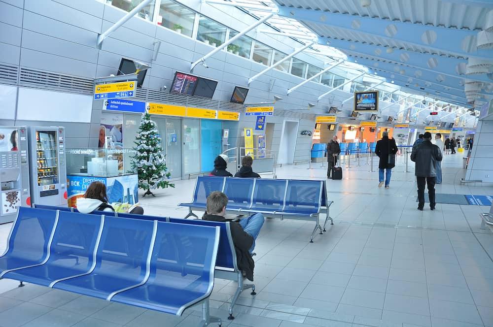 KOSICE, SLOVAKIA - interior photo of Kosice airport. Photo taken in Kosice, Slovakia