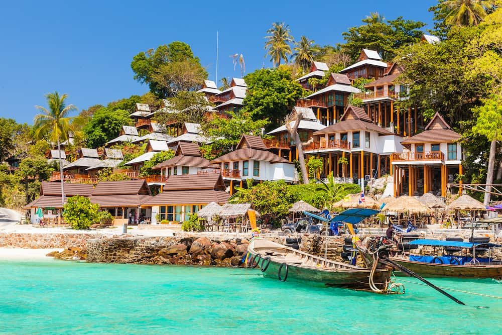 a luxurious resort in Phi Phi Island a tropical Thailand island