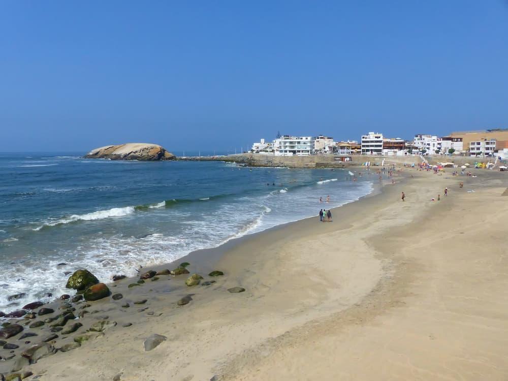 Sandy beach of Punta Hermosa in Peru. Punta Hermosa is a popular beach town not far from Lima.
