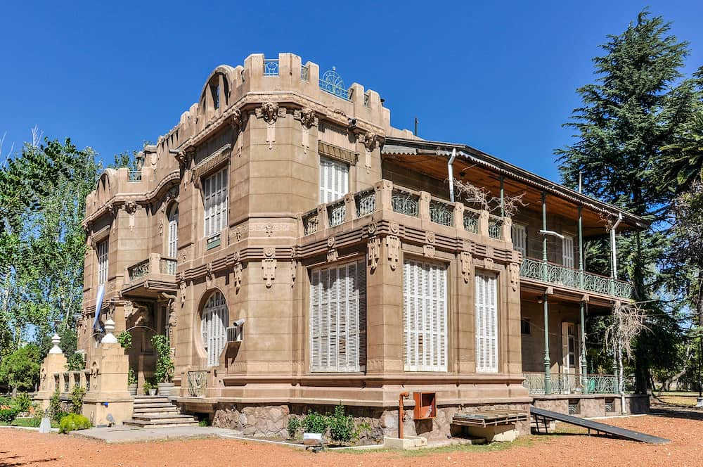 MAPIU, ARGENTINA - The castle of the National Wine Museum in Maipu, Argentina