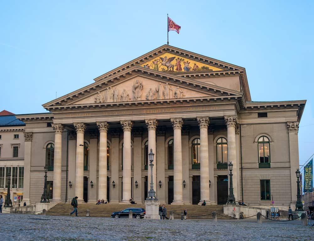 The National Theater of Munich - Bavarian State Opera. Evening photo