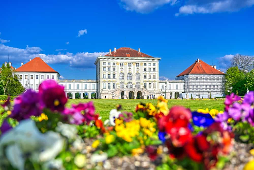 Munich, Germany - The Nymphenburg Palace, Schloss Nymphenburg, is a Baroque palace in Munich, Bavaria, southern Germany.