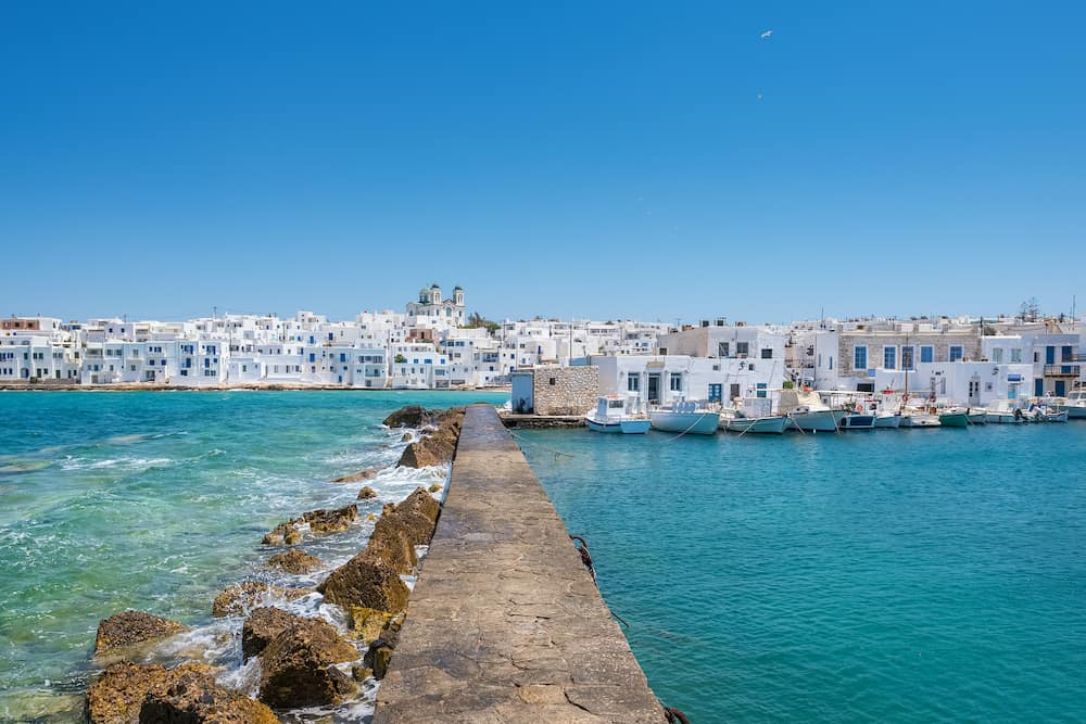 Greek fishing village Naousa on Paros island, Cyclades, Greece.