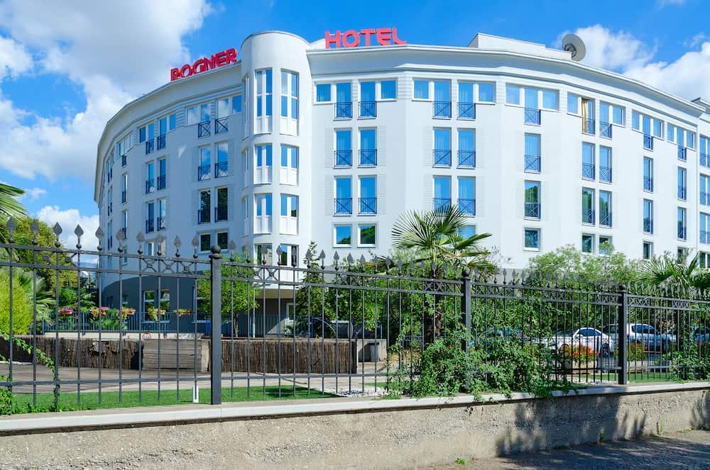 TIRANA ALBANIA - Hotel Rogner on boulevard of Martyrs in center of city of Tirana Albania