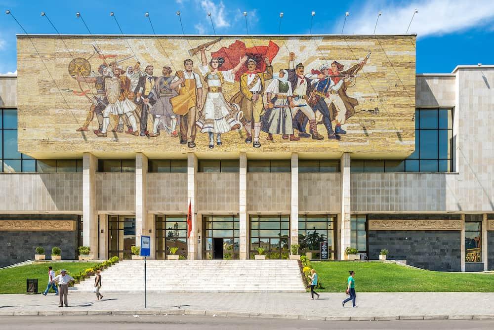 TIRANA, ALBANIA - National history museum in Tirana. Tirana is capital of Albania.