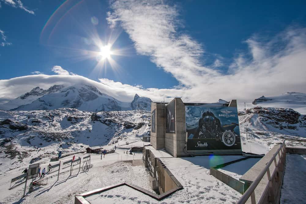 MATTERHORN GLACIER PARADISE, SWITZERLAND - Winter view of Matterhorn Glacier Paradise near Matterhorn Peak, Alps, Switzerland