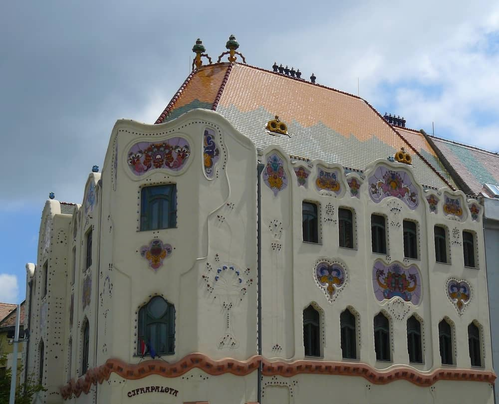 the gaudy mansion, built in secession style, kecskemet town, hungary