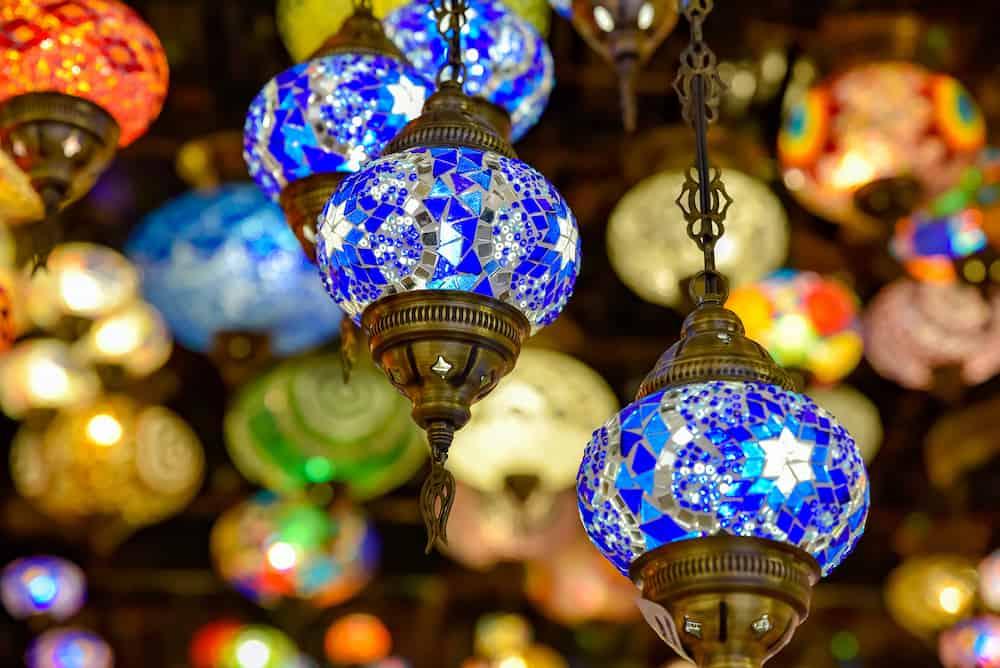 Handicraft Eastern style at store, in Global Village, Dubai, United Arab Emirates