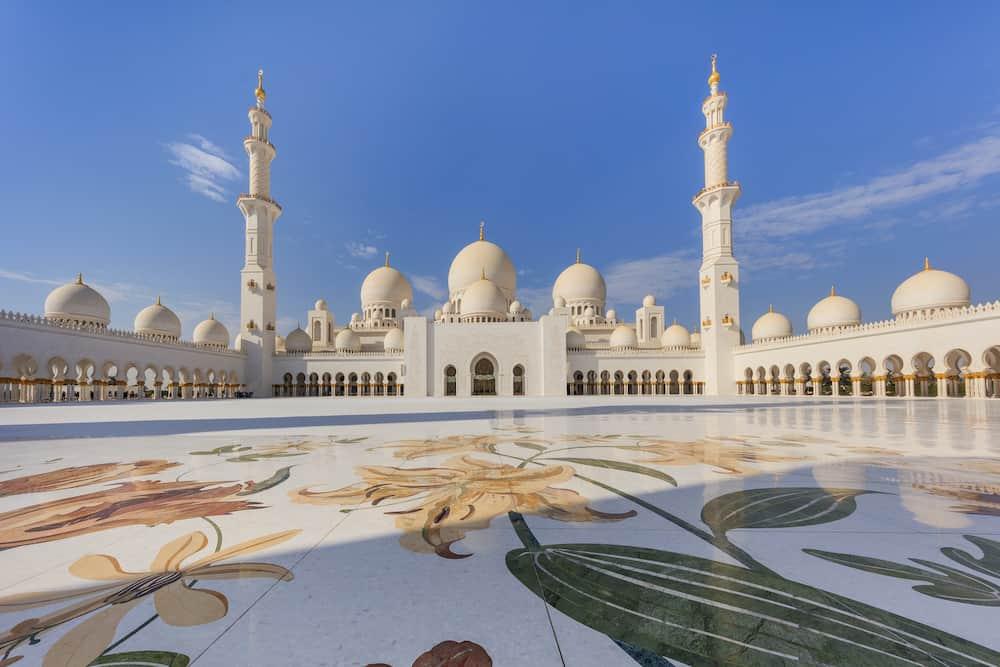 Sheikh Zayed Grand Mosque in Abu Dhabi the capital city of United Arab Emirates