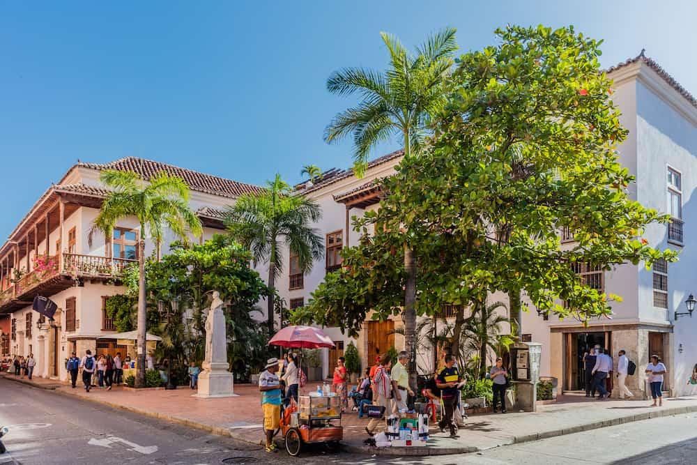 Cartagena , Colombia - Centro Historicoaera of Cartagena de los indias Bolivar in Colombia South America