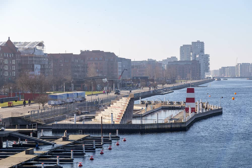 The harbour bath at Islands Brygge. There are currently four harbour baths in Copenhagen.