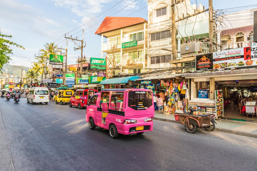 Patong Thailand. A scene in Patong Thailand