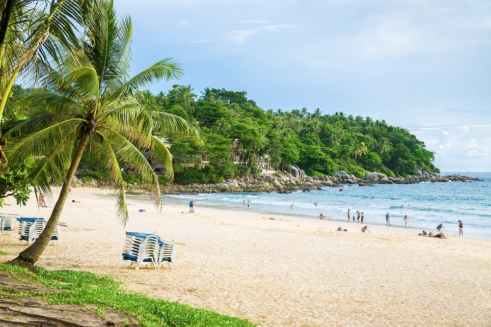 Karon Beach is one of the best beaches in Phuket in the evening. Thailand.