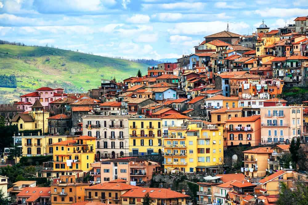 Rocca di Papa a small italian town on Alban Hills one of Castelli Romani Rome province Lazio Italy