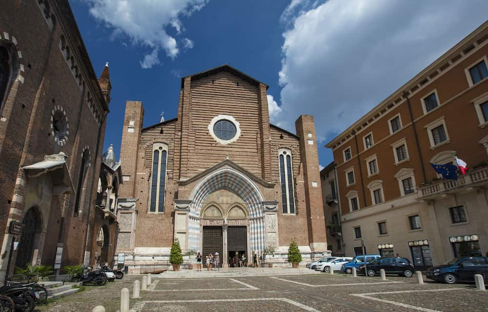 Verona, Italy, Europe - A view of the Chiesa di Santa Anastasia church