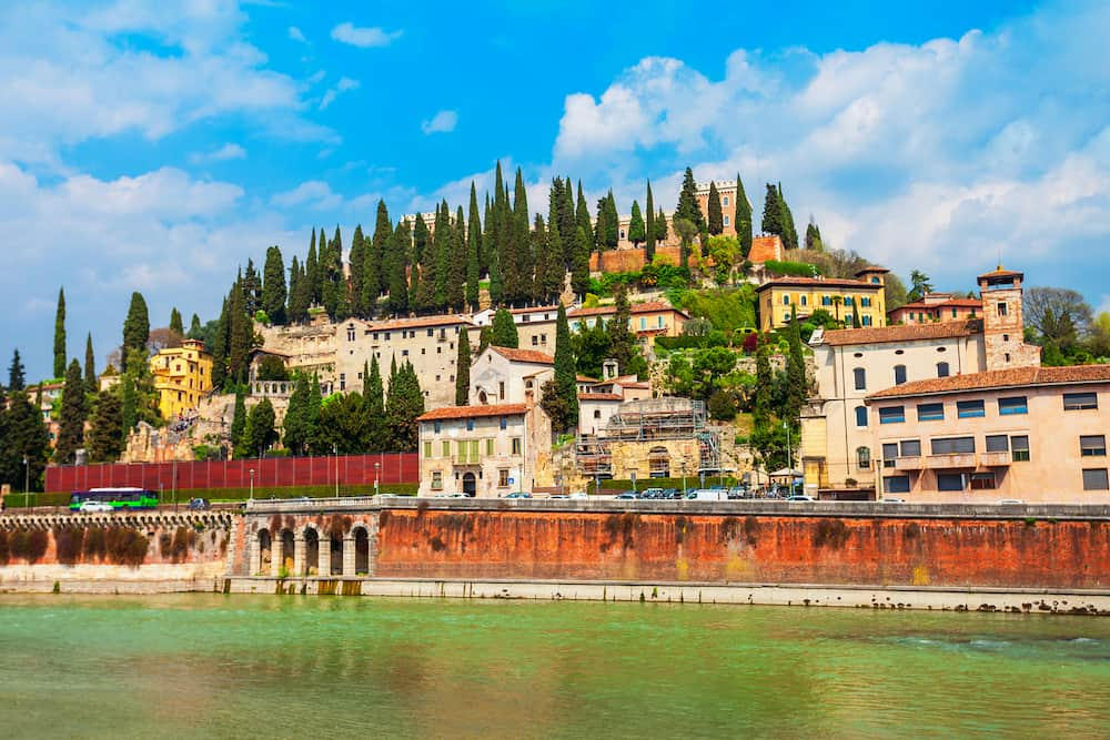 San Pietro is an ancient castle in Verona, Veneto region in Italy