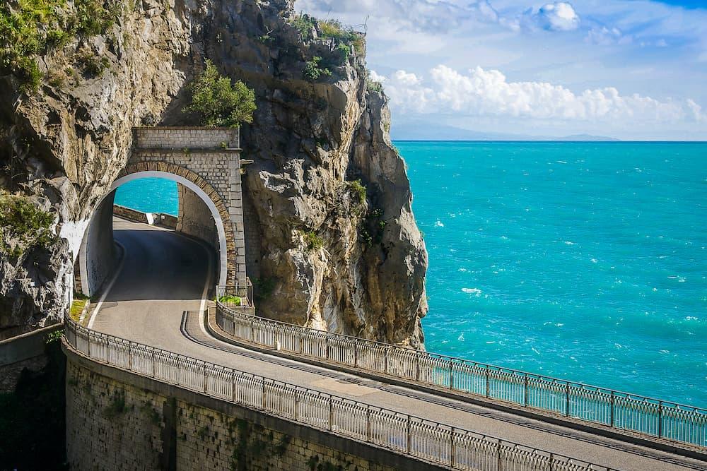 The Amalfi Drive, scenic coastal route on the Amalfi Coast