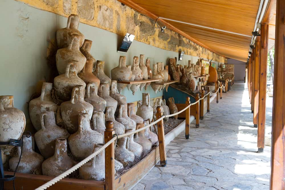 ISTANBUL, TURKEY - Amphoras in Bodrum Museum of Underwater Archaeology