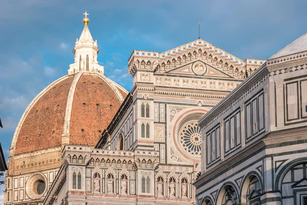 Florence Cathedral of Saint Mary of Flower, Florence Duomo and Giotto s Campanile of Florence Cathedral in Florence, Italy.