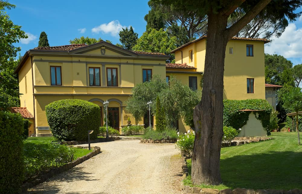 FLORENCE, ITALY - The Hotel Villa Betania sits on a shaded property in a residential area across the river from the city center, providing a quiet refuge from the hustle and bustle of the city.