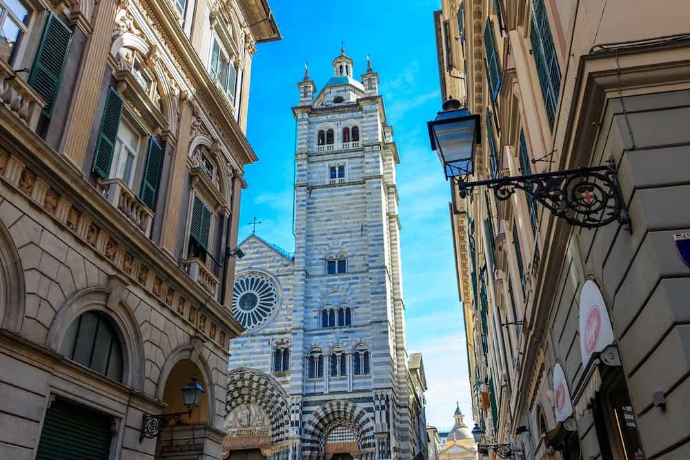 Cathedral di San Lorenzo in the Italian city of GENOA, ITALY