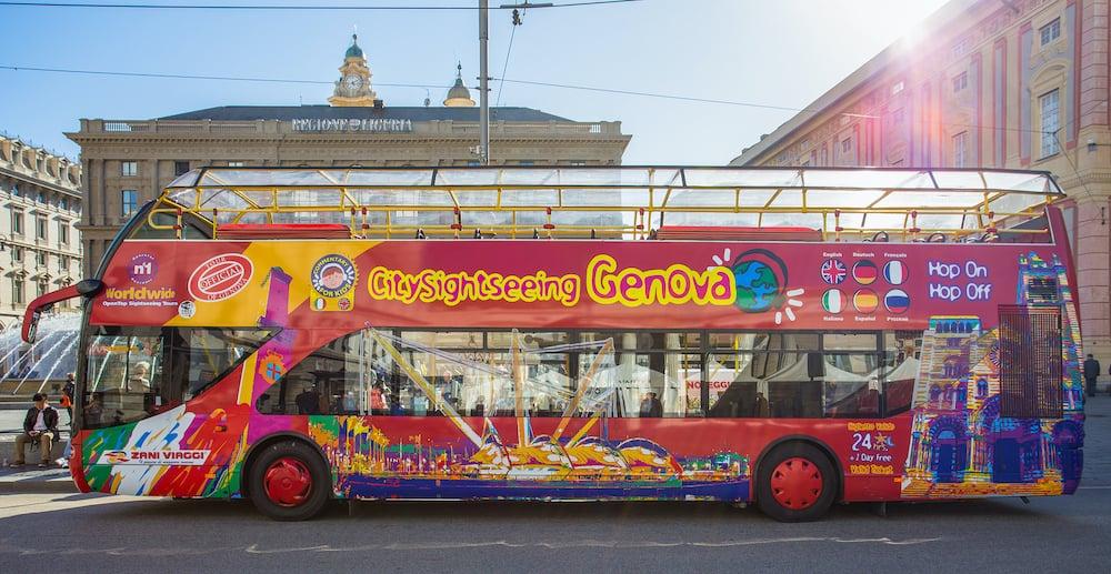 GENOA (GENOVA), ITALY, Citysightseeing Bus Genova (Genoa), Italy