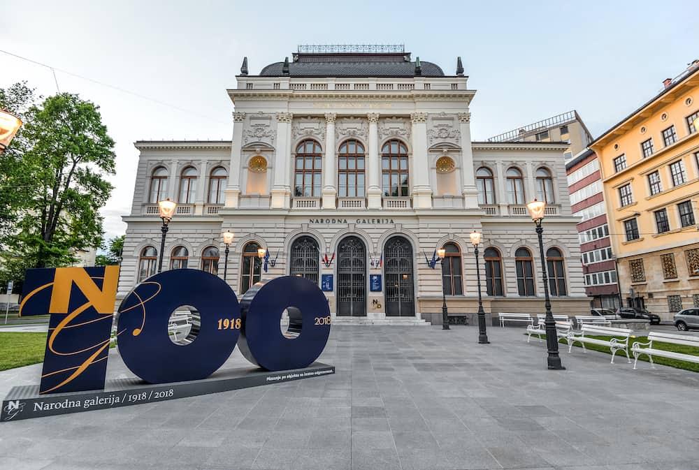 Ljubljana, Slovenia - The main building of the National Gallery of Slovenia in Ljubljana, Slovenia
