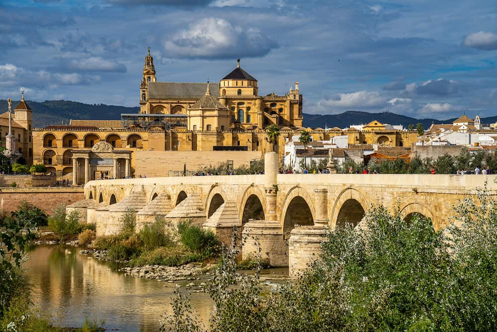 Cordoba, Spain - Mezquita-Catedral and Puente Romano - Mosque-Cathedral and the Roman Bridge in Cordoba, Andalusia, Spain