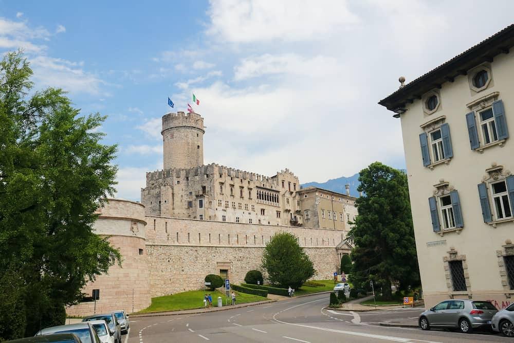TRENTO ITALY - Buonconsiglio Castle in Trento Trentino Italy a famous 13th Century castle in the center of Trento