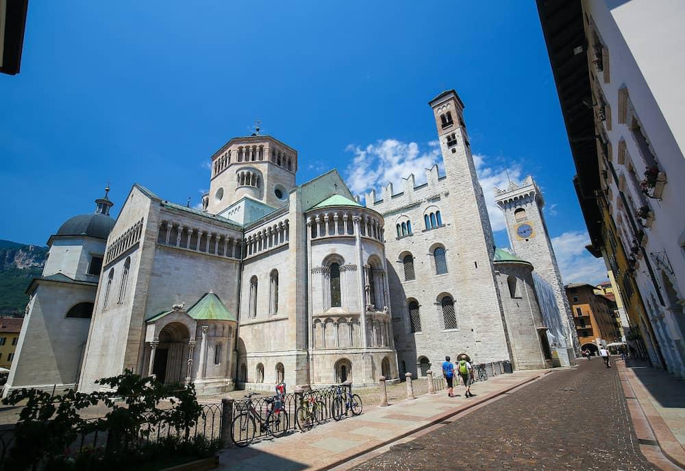 TRENTO ITALY - Romanesque Trento Cathedral or Cathedral of San Vigilio in Trento Trentino Italy