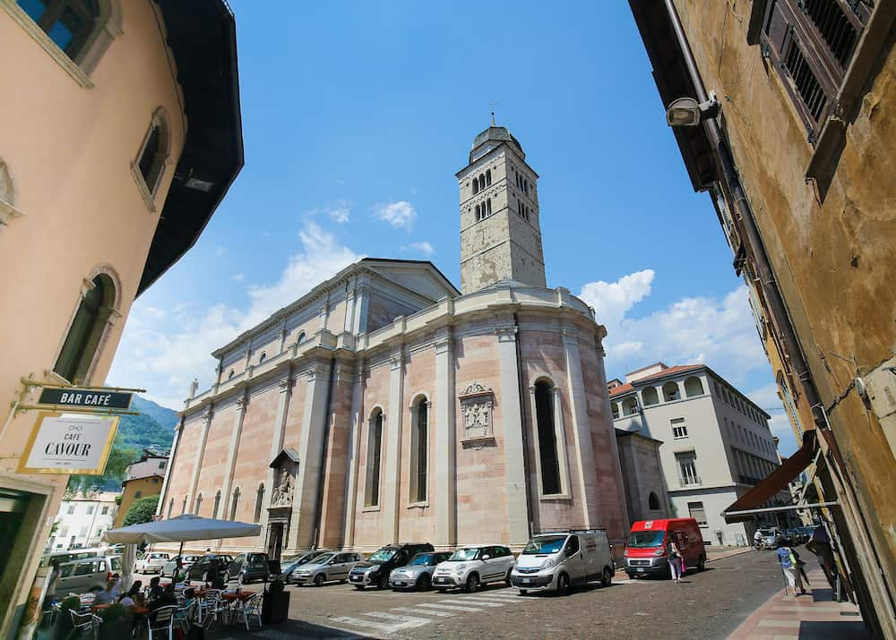 TRENTO ITALY - The Church of Santa Maria Maggiore is an important place of worship in the city of Trento and the site of the Council of Trent.