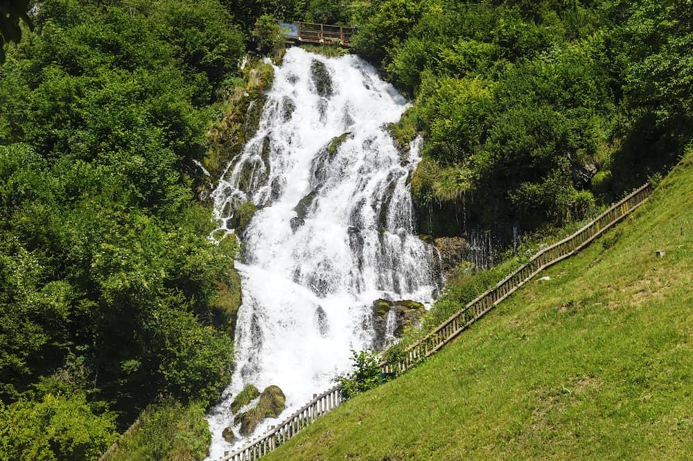 Waterfall near Stenico (Trento Trentino Alto Adige Italy) at summer