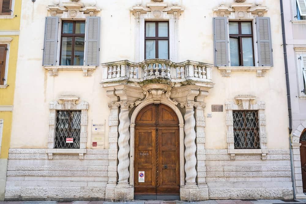 Trento, Itali - facade of an ancient house in Trento, Italy